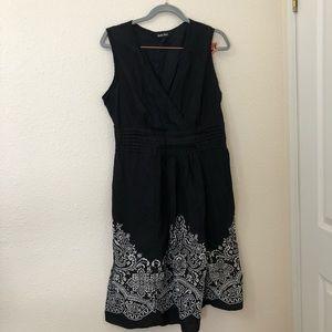 Black Mid Length Summer Dress Size XL